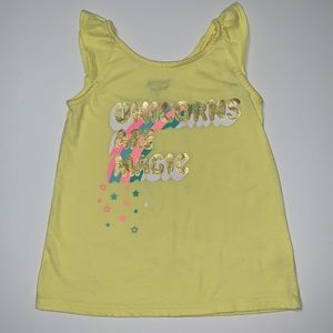 Jumping Beans Girl's Yellow Top, Size 6